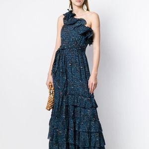 Ulla Johnson Subira Maxi Dress Blue Sz 0